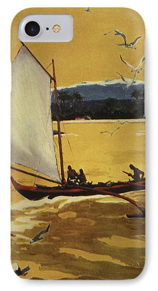 Outrigger Off Shore Phone Case by Hawaiian Legacy Archive - Printscapes