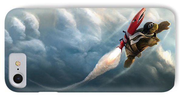 IPhone Case featuring the digital art Outrunning The Clouds by Steve Goad