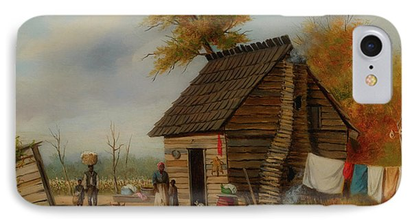 Outside The Cabin IPhone Case by William Walker