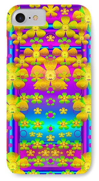 Outside The Curtain It Is Peace Florals And Love IPhone Case