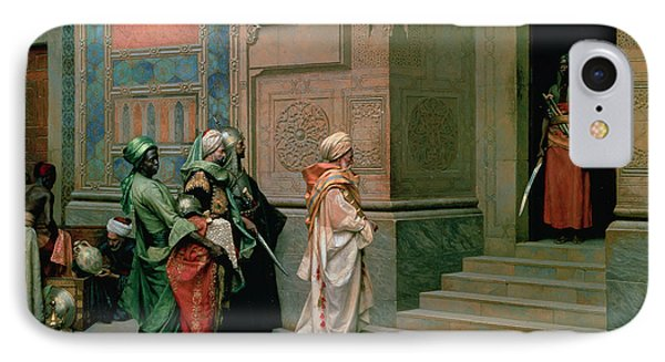 Outside The Palace IPhone Case by Ludwig Deutsch