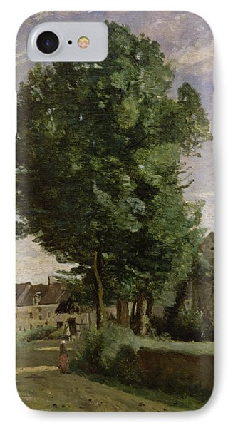 Outskirts Of A Village Near Beauvais IPhone Case by Jean Baptiste Camille  Corot