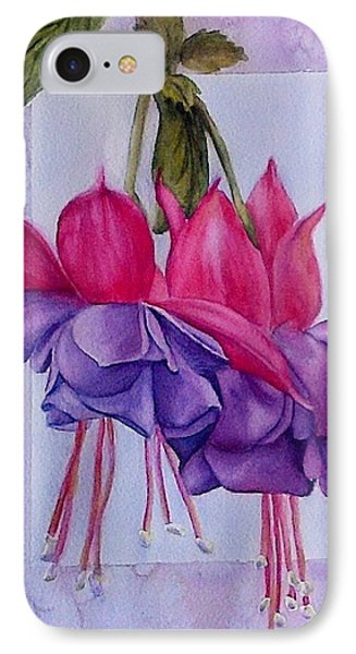 Outstanding Fuschias IPhone Case by Sue Chorney