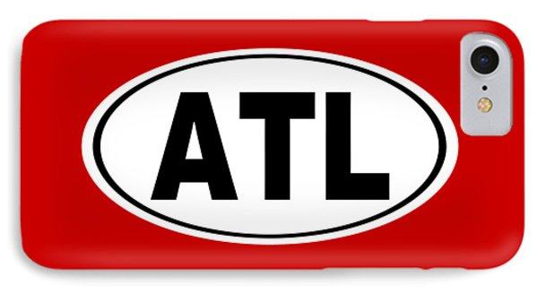 IPhone Case featuring the photograph Oval Atl Atlanta Georgia Home Pride by Keith Webber Jr