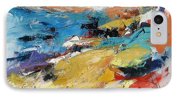 IPhone Case featuring the painting Over The Hills And Far Away by Elise Palmigiani