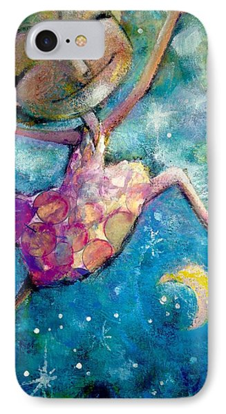 Over The Moon IPhone Case by Eleatta Diver