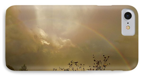 IPhone Case featuring the photograph Over The Rainbow Garden by Deborah Moen