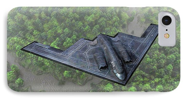 Over The River And Through The Woods In A Stealth Bomber IPhone Case