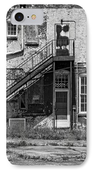 IPhone Case featuring the photograph Over Under The Stairs - Bw by Christopher Holmes