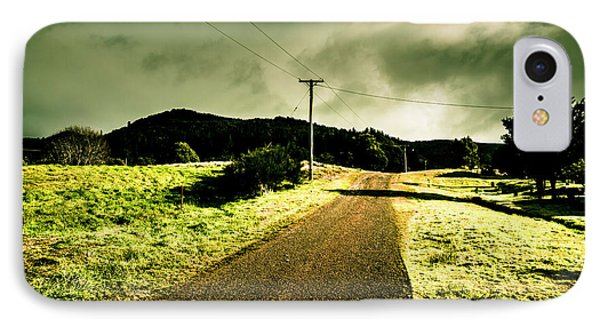 Overcast Storm Road IPhone Case