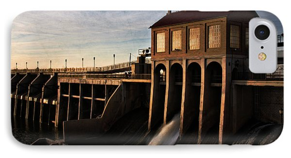 Overholser Dam IPhone Case by Lana Trussell
