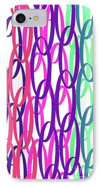 Overlaid Scrolls IPhone Case by Louisa Knight