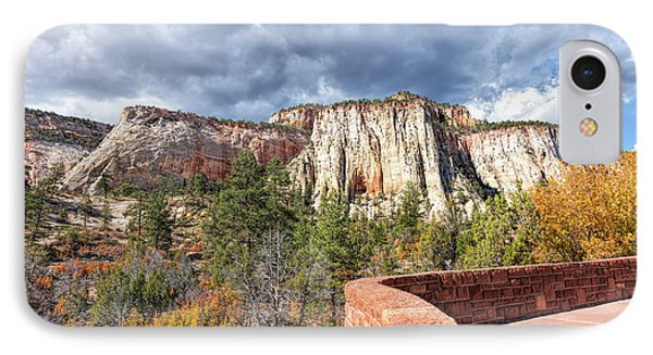 IPhone Case featuring the photograph Overlook In Zion National Park Upper Plateau by John M Bailey