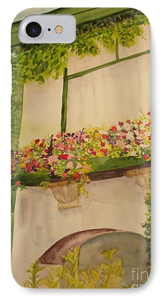 IPhone Case featuring the painting Overlooking Butchard Gardens  by Vicki  Housel