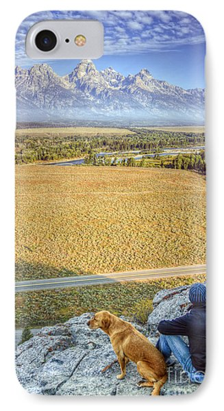 Overlooking The Grand Tetons Jackson Hole IPhone Case by Dustin K Ryan