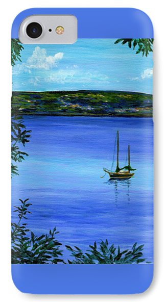Overlooking The Hudson IPhone Case by Anne Marie Brown