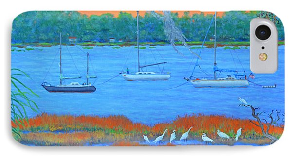 IPhone Case featuring the painting Overnight In Beaufort by Dwain Ray