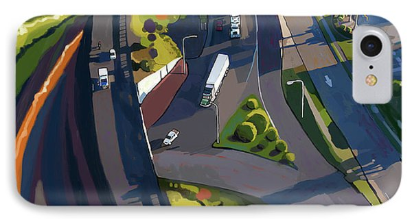 Overpass And Trucks IPhone Case