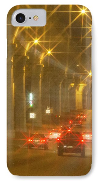 IPhone Case featuring the photograph Overpass Traffic by Linda Phelps