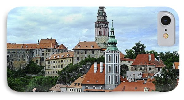Overview Of Cesky Krumlov IPhone Case by Kirsten Giving
