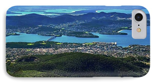 Overview Of Hobart Tasmania IPhone Case by Kirsten Giving