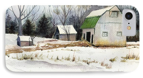 IPhone Case featuring the painting Owen County Winter by Katherine Miller