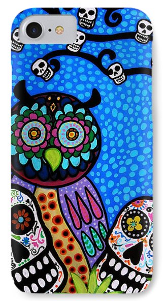 Owl And Sugar Day Of The Dead IPhone Case