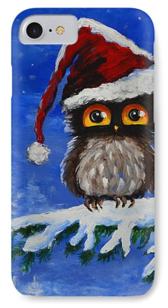 Owl Be Home For Christmas IPhone Case by Agata Lindquist