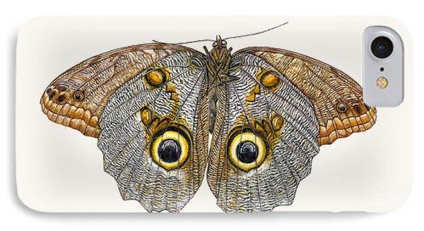 Owl Butterfly IPhone Case by Rachel Pedder-Smith