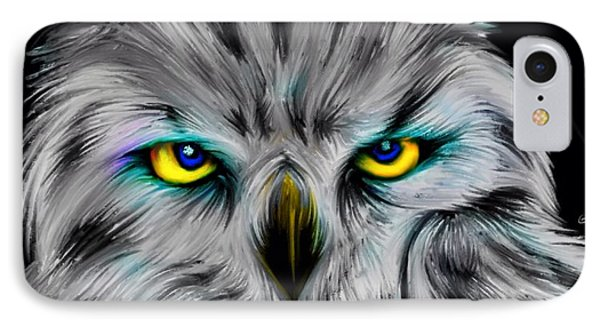 IPhone Case featuring the drawing Owl Eyes  by Nick Gustafson