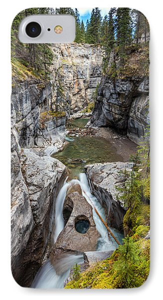IPhone Case featuring the photograph Owl Face Falls Of Maligne Canyon by Pierre Leclerc Photography