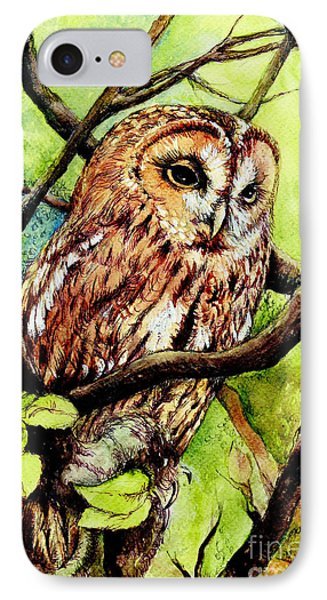 Owl From Butterfingers And Secrets Phone Case by Morgan Fitzsimons
