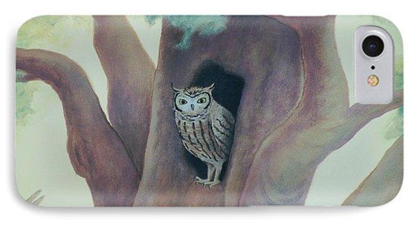 Owl In Tree IPhone Case