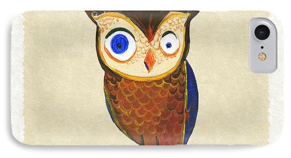 Owl IPhone 7 Case by Kristina Vardazaryan