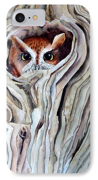 IPhone Case featuring the painting Owl by Laurel Best