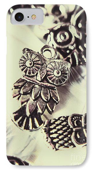 Owl Pendants. Charms Of Wisdom IPhone Case by Jorgo Photography - Wall Art Gallery