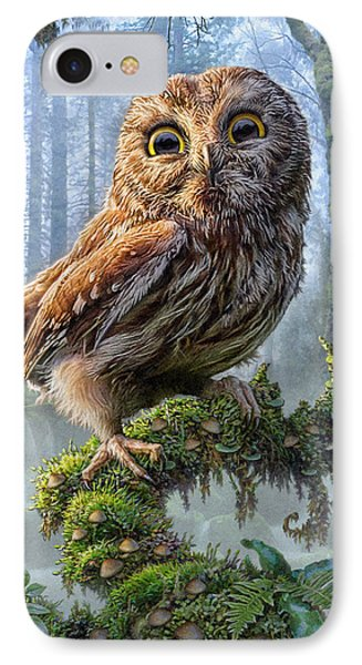 Mushroom iPhone 7 Case - Owl Perch by Phil Jaeger