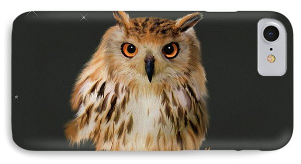 Owl Portrait  IPhone Case