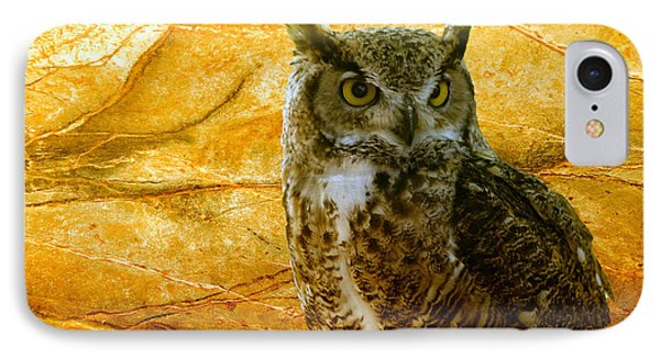 Owl IPhone Case by Teresa Zieba