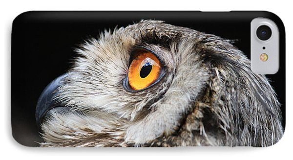 Owl The Grand-duc IPhone Case by Mary-Lee Sanders