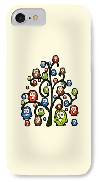 Owl Tree IPhone Case by Anastasiya Malakhova