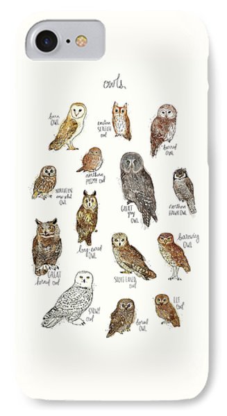 Owls IPhone Case by Amy Hamilton