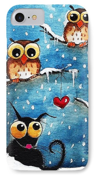 Owls In Love IPhone Case