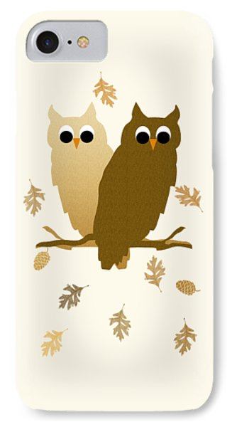 Owls Pattern Art IPhone Case by Christina Rollo