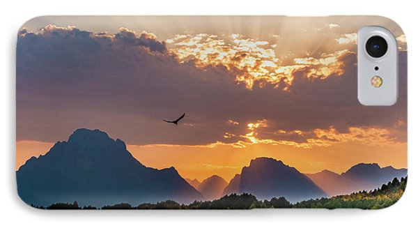 Oxbow At Sunset IPhone Case by Mary Hone