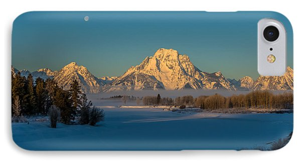 Oxbow Bend In Late Winter IPhone Case by Yeates Photography