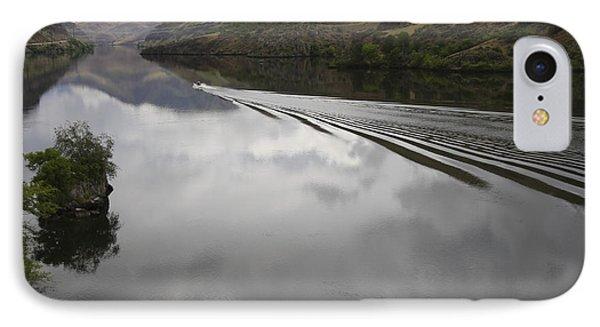 Oxbow Reservoir Wake Phone Case by Idaho Scenic Images Linda Lantzy