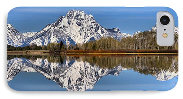 Oxbow Snake River Reflections IPhone Case by Adam Jewell