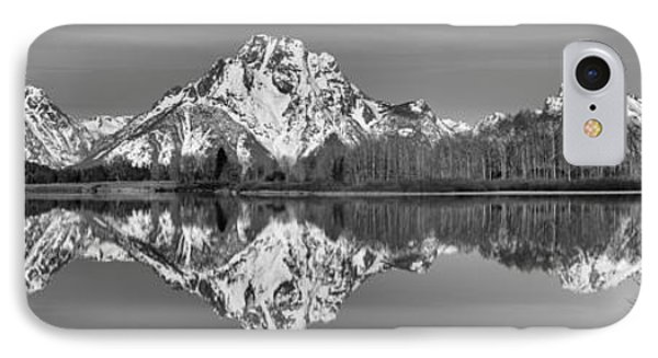 Oxbow Snake River Reflections Black And White IPhone Case by Adam Jewell