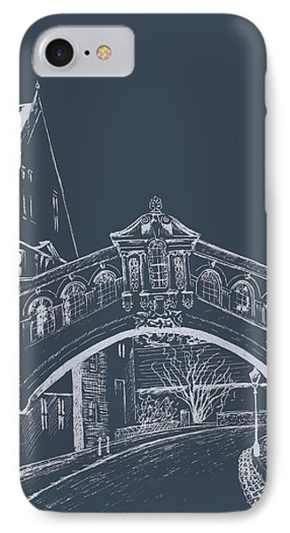 IPhone Case featuring the digital art Oxford At Night by Elizabeth Lock